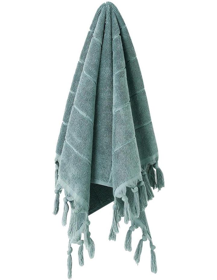 Paros Bath Towel Range in Jade image 3