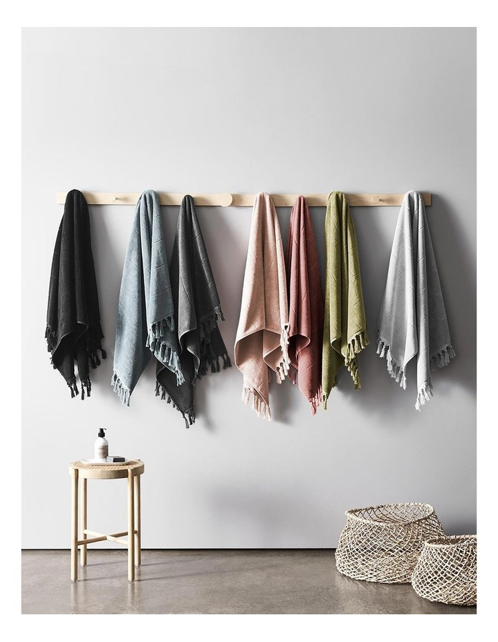 Paros Bath Towel Range in Jade image 6