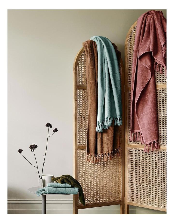 Paros Bath Towel Range in Jade image 7