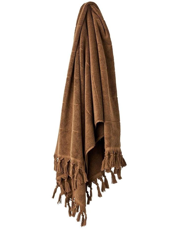 Paros Bath Towel Range in Caramel image 1