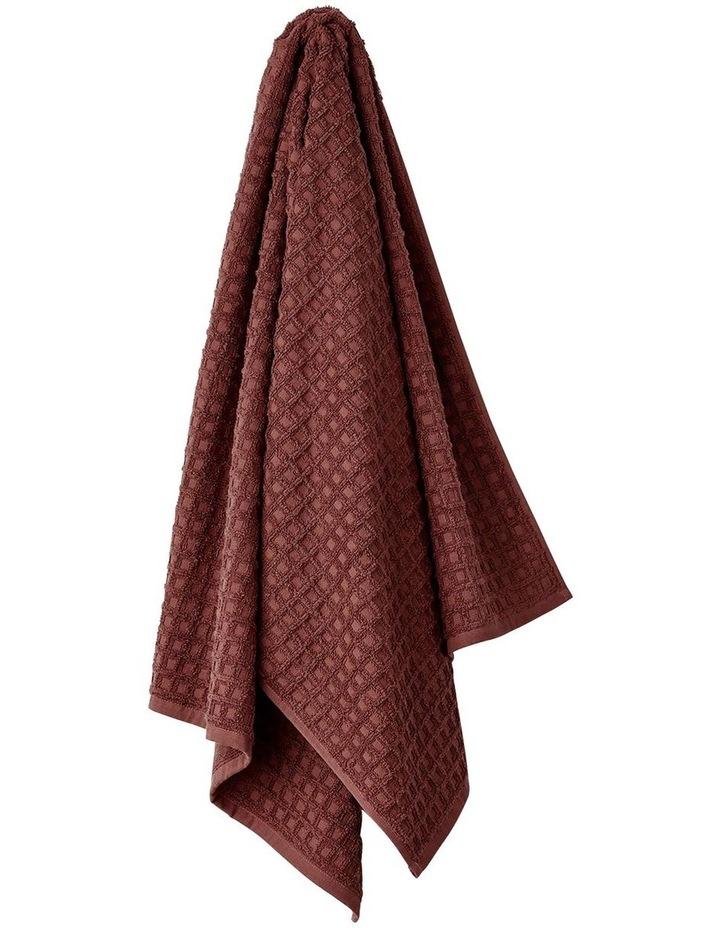 Waffle Bath Towel Range in Mahogany image 1