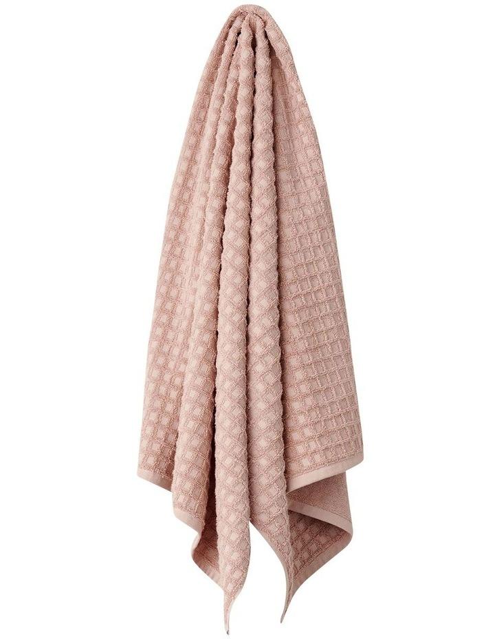 Waffle Bath Towel Range in Pink Clay image 1