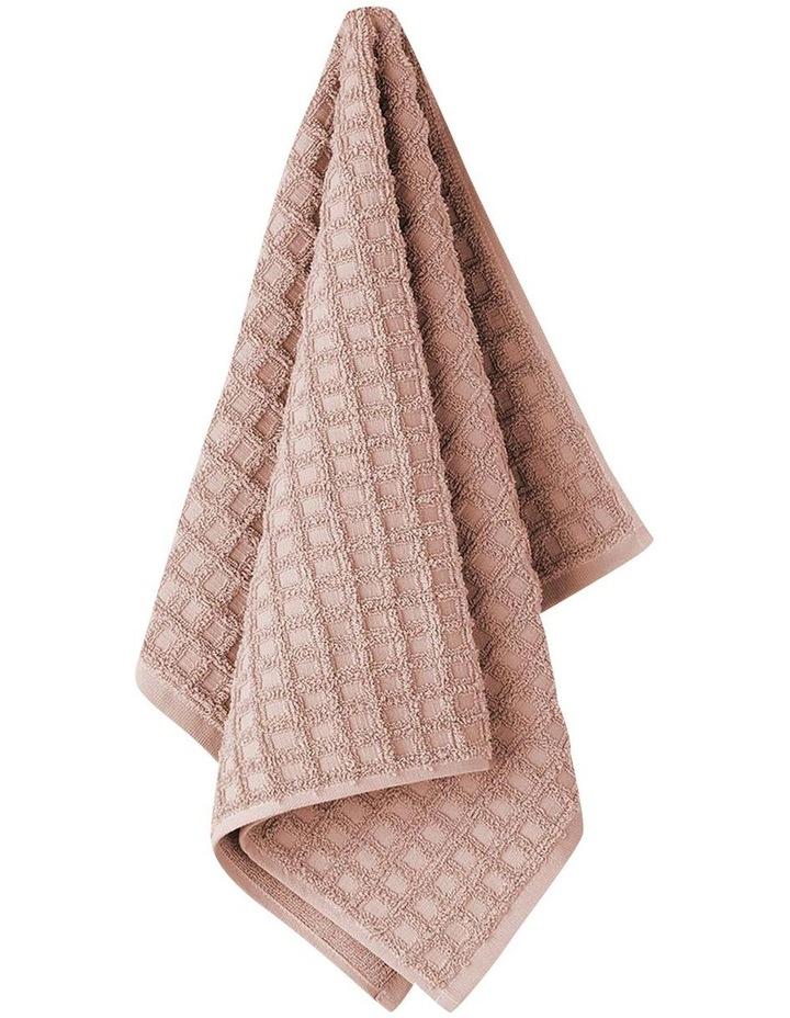 Waffle Bath Towel Range in Pink Clay image 2
