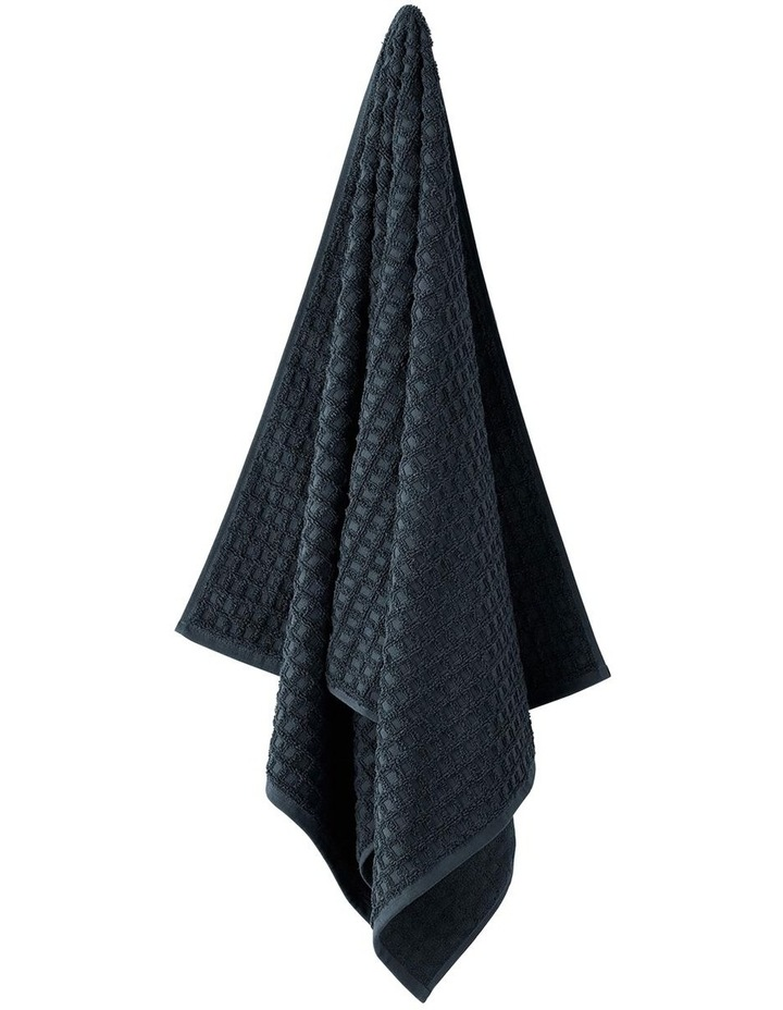 Waffle Bath Towel Range in Slate image 1