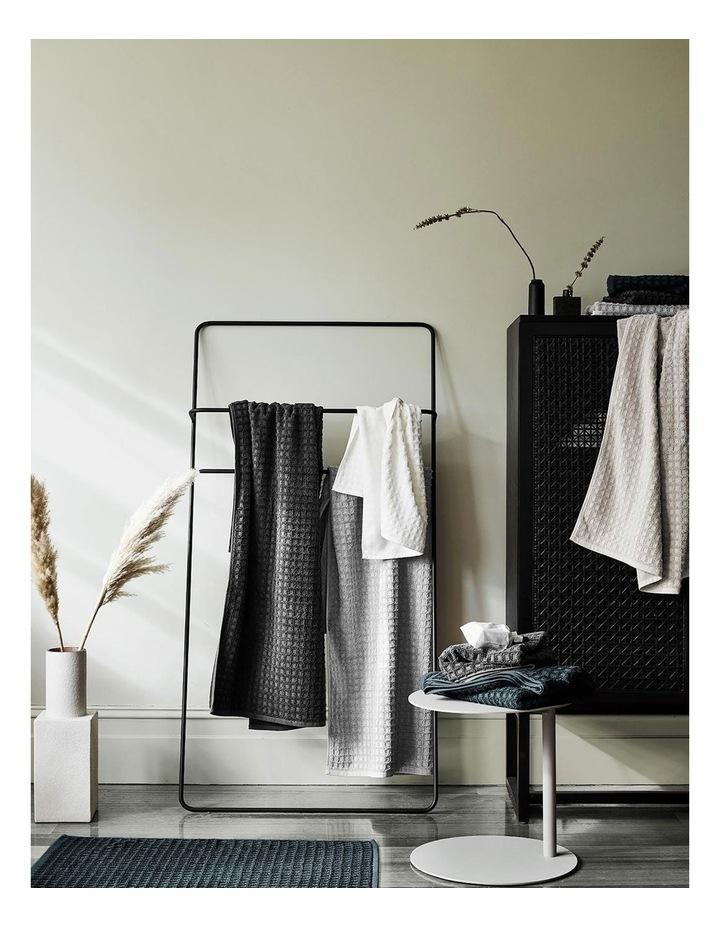 Waffle Bath Towel Range in Slate image 2