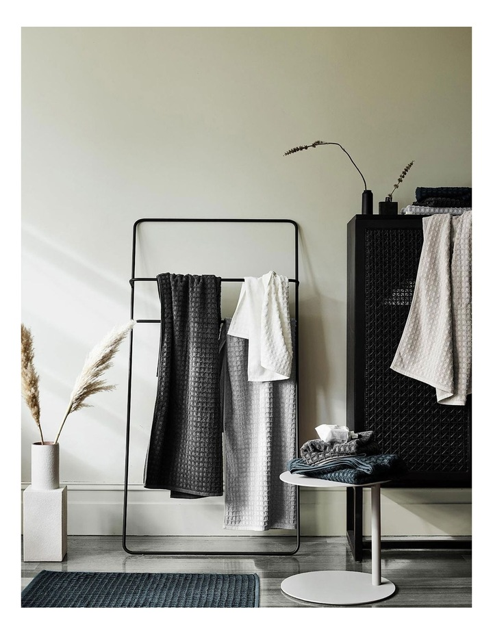 Waffle Bath Towel Range in White image 2