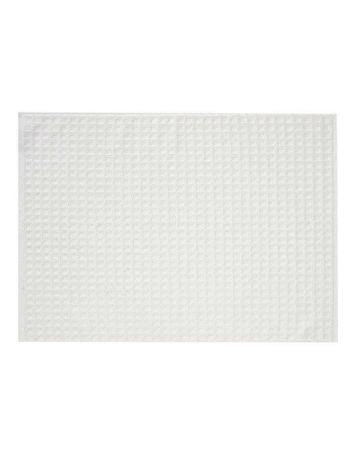 Waffle Bath Towel Range in White image 3