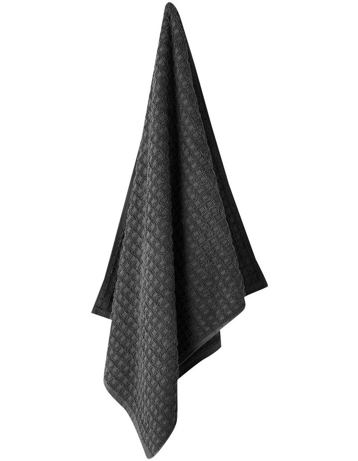 Waffle Bath Towel Range in Charcoal image 1