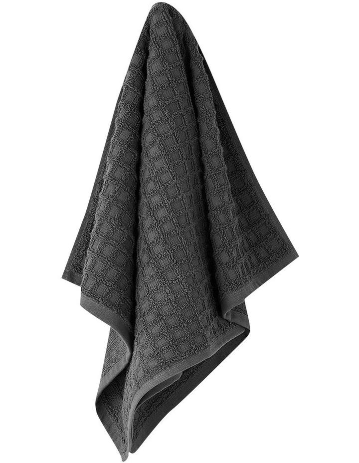 Waffle Bath Towel Range in Charcoal image 2