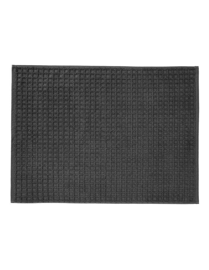 Waffle Bath Towel Range in Charcoal image 3