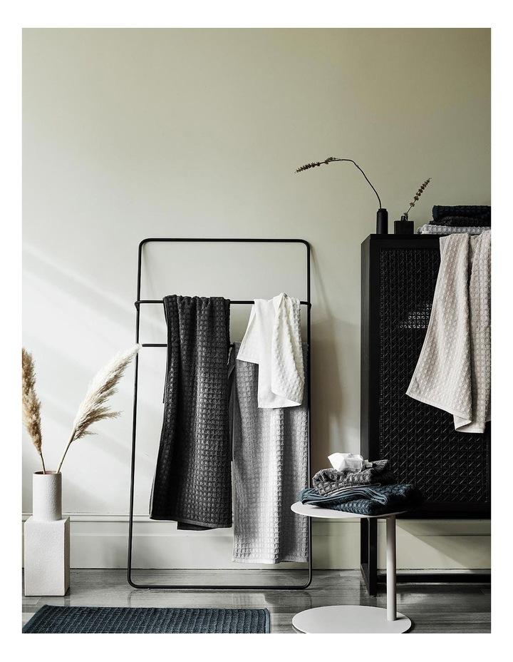 Waffle Bath Towel Range in Charcoal image 4