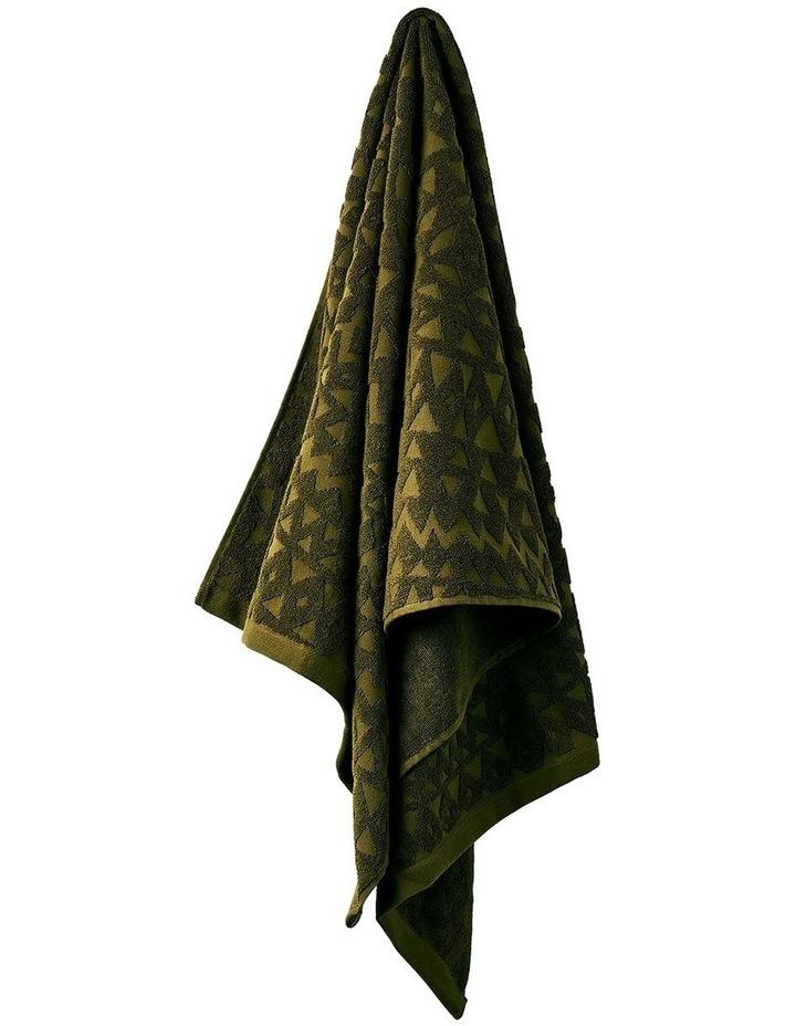Maya Bath Towel Range in Khaki image 1