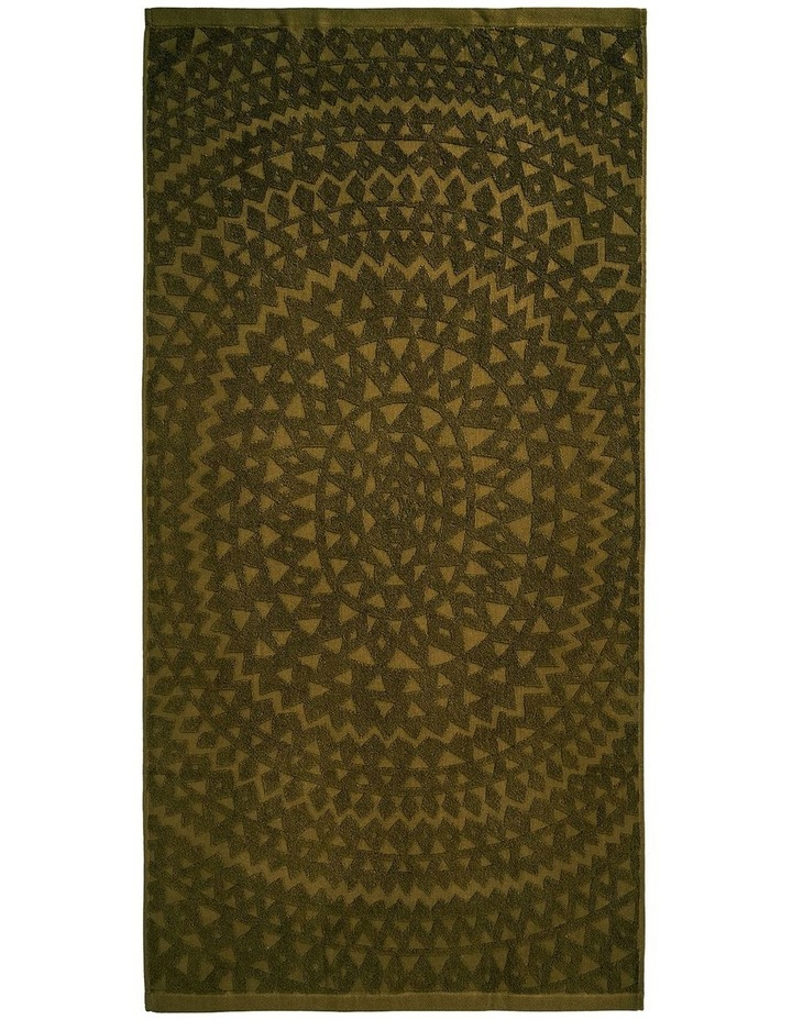 Maya Bath Towel Range in Khaki image 2