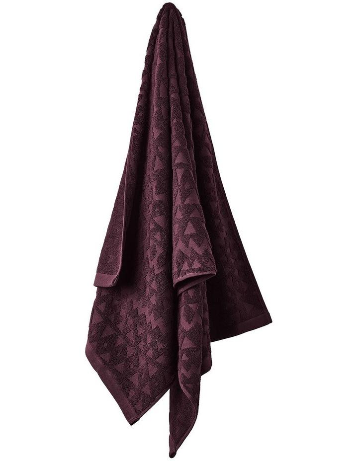 Maya Bath Towel Range in Fig image 1