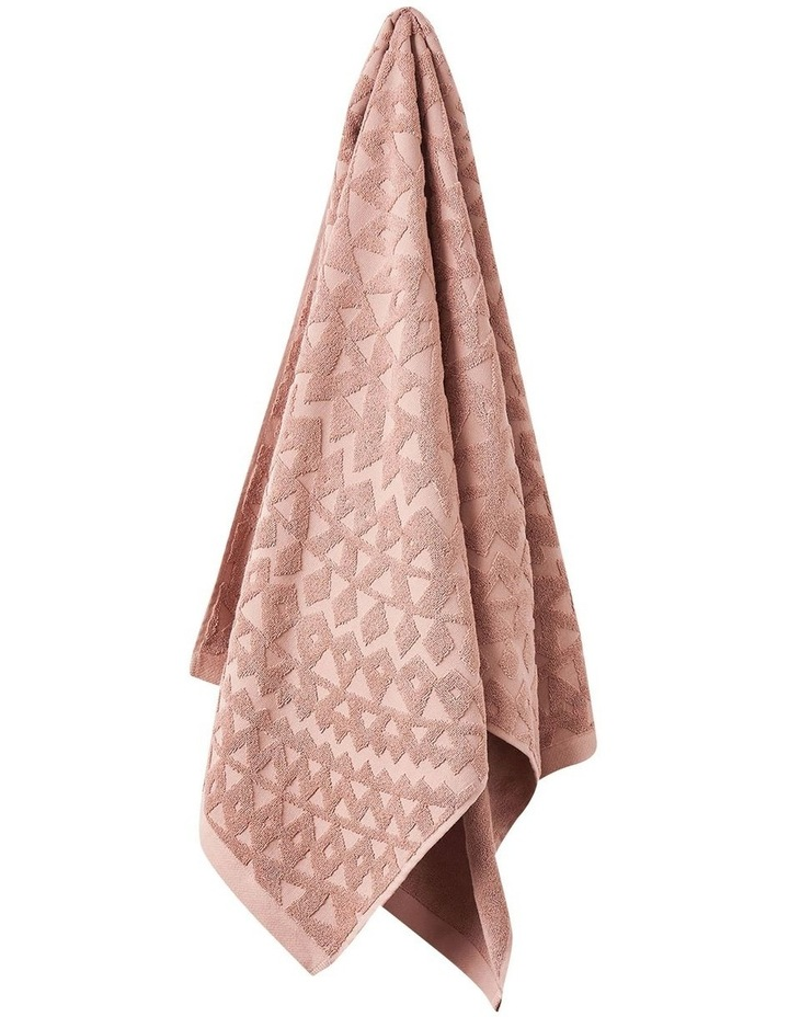 Maya Bath Towel Range in Clay image 1