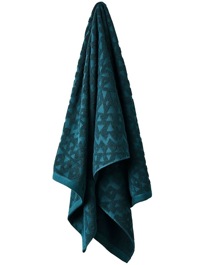 Maya Bath Towel Range in Indian Teal image 1
