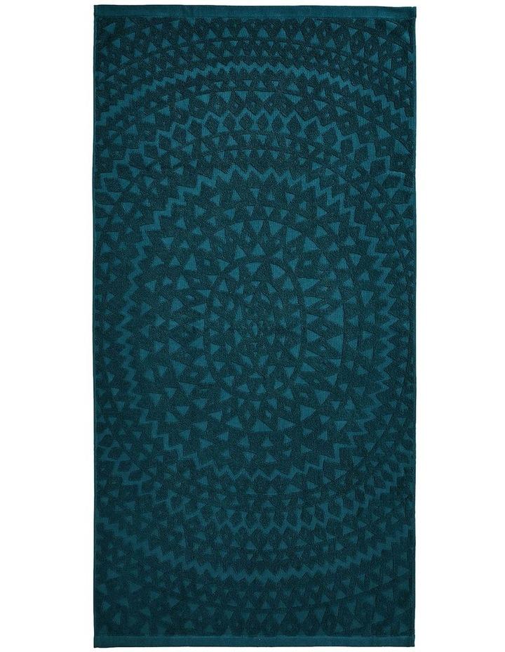Maya Bath Towel Range in Indian Teal image 2