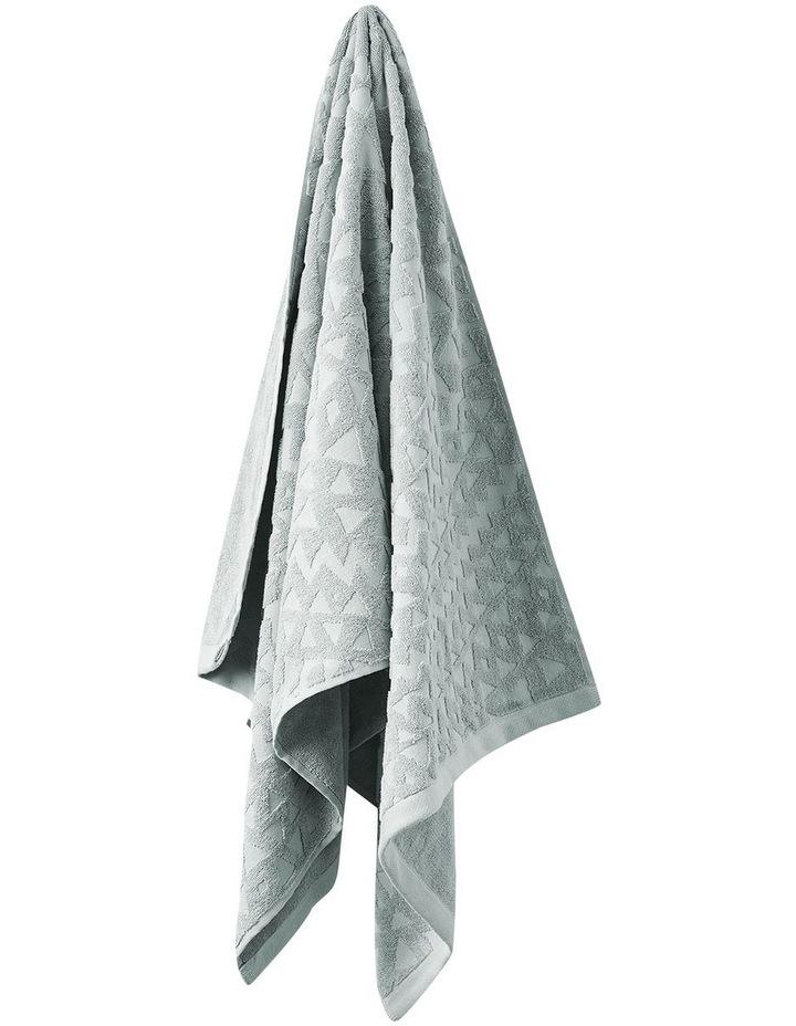 Maya Bath Towel Range in Limestone image 1