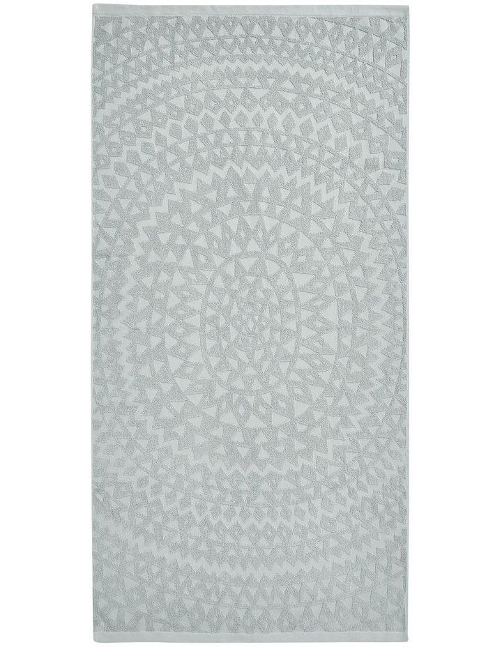 Maya Bath Towel Range in Limestone image 2