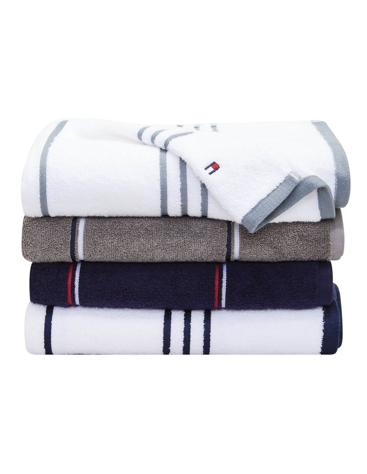 Tommy Hilfiger Modern American Multi Stripe Bath Towel image 2