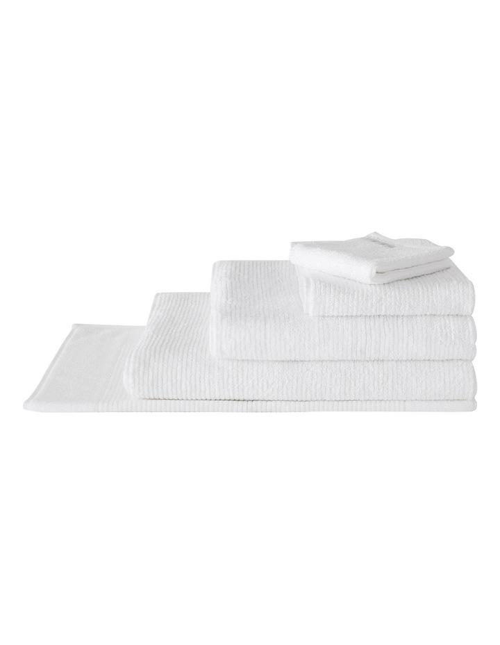 Living Textures Towel Range in Snow image 1