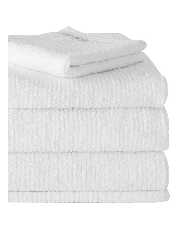 Living Textures Towel Range in Snow image 2