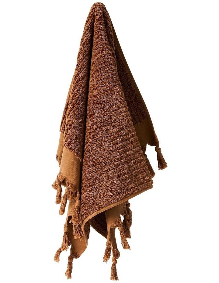 Paros Rib Bath Towel Range In Bronze image 3