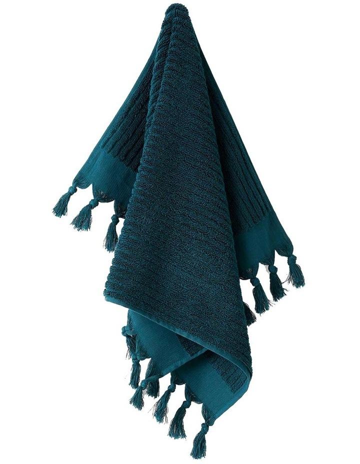 Paros Rib Bath Towel Range In Indian Teal image 3