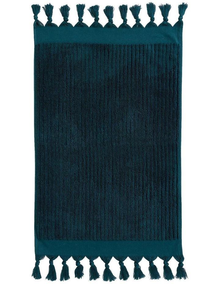 Paros Rib Bath Towel Range In Indian Teal image 4