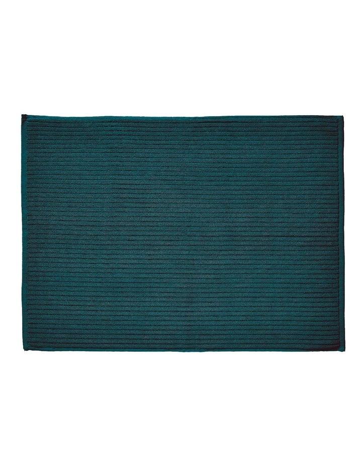 Paros Rib Bath Towel Range In Indian Teal image 5