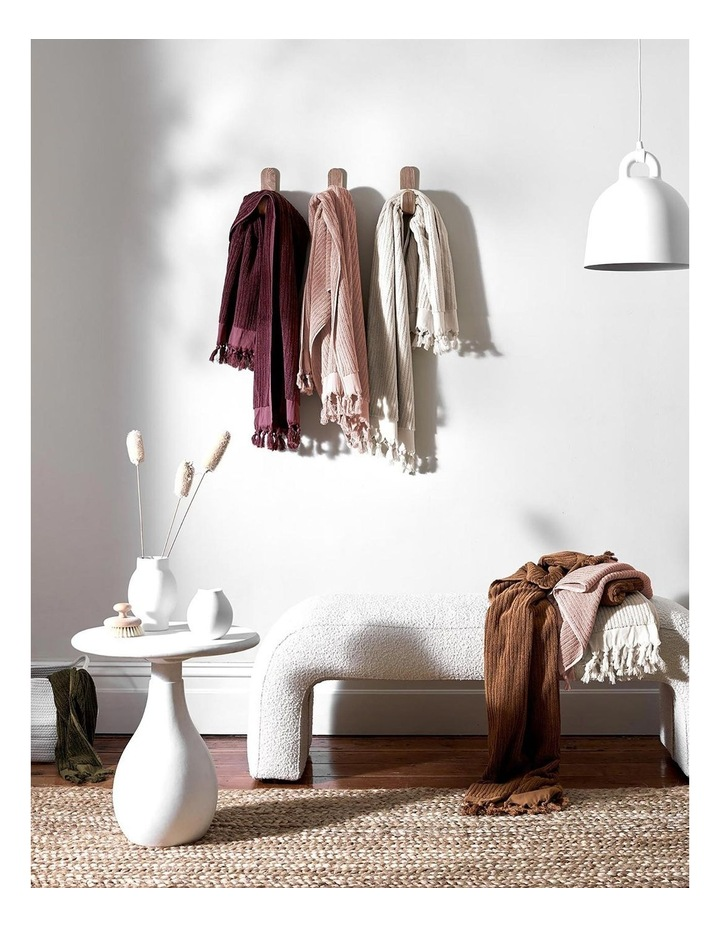 Paros Rib Bath Towel Range In Indian Teal image 6