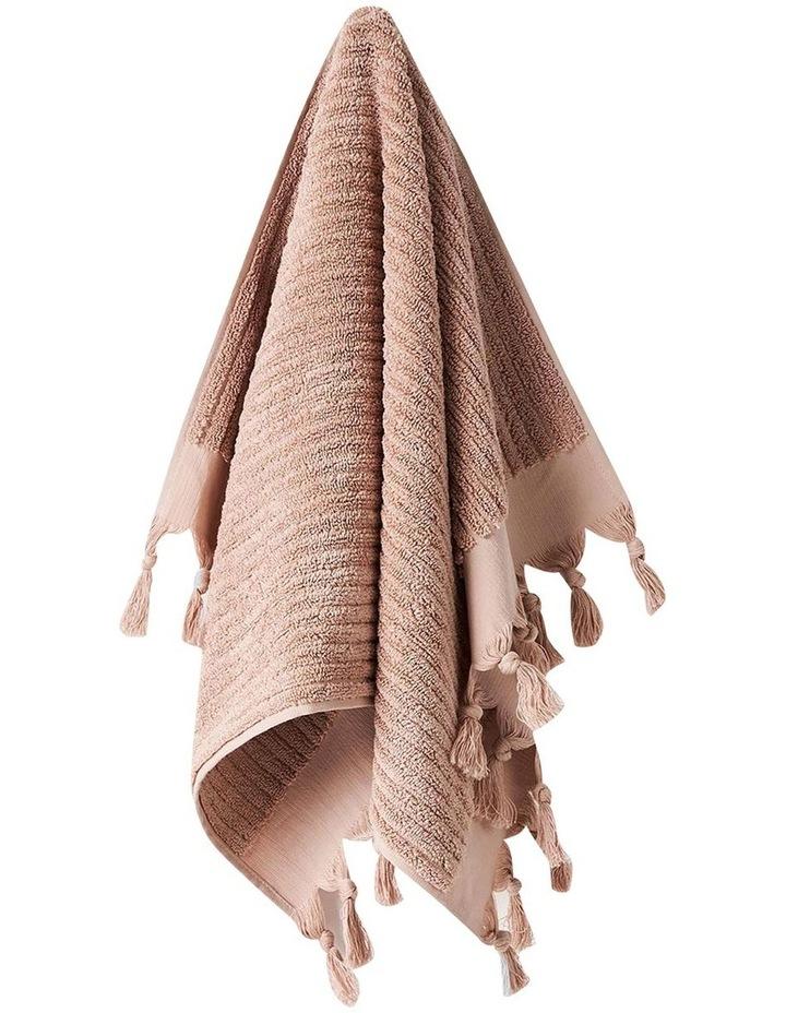 Paros Rib Bath Towel Set In Shell image 2