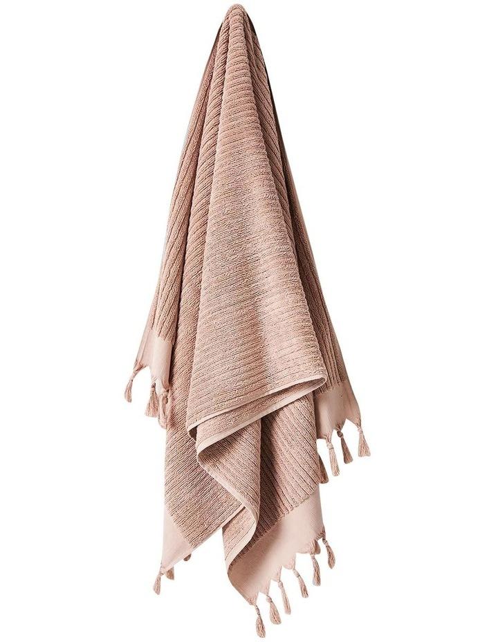 Paros Rib Bath Towel Set In Shell image 4