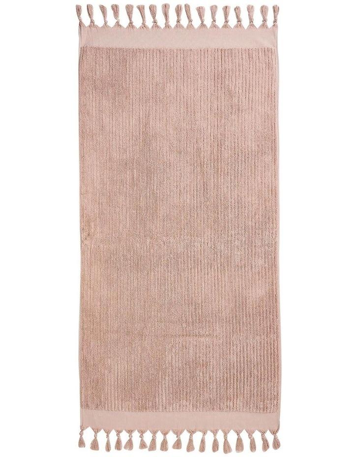 Paros Rib Bath Towel Set In Shell image 5