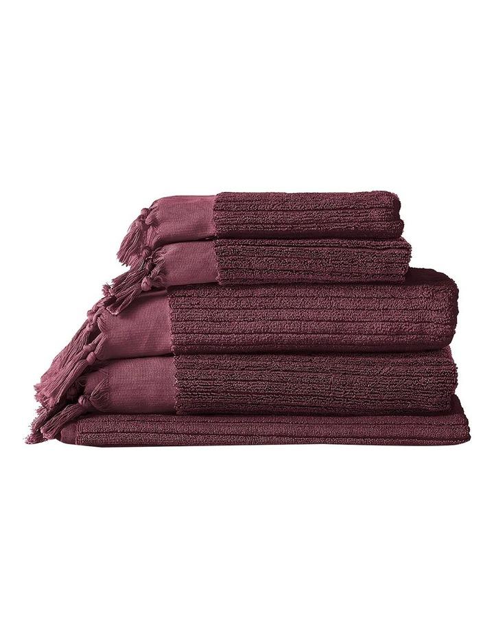 Paros Rib Bath Towel Set In Syrah image 1