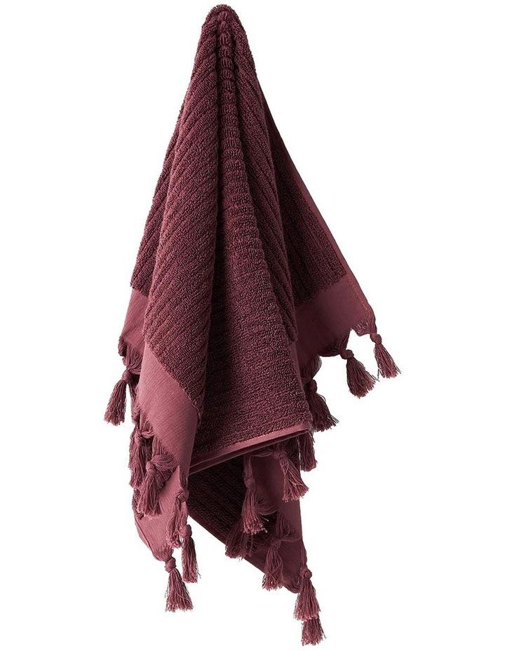 Paros Rib Bath Towel Set In Syrah image 2