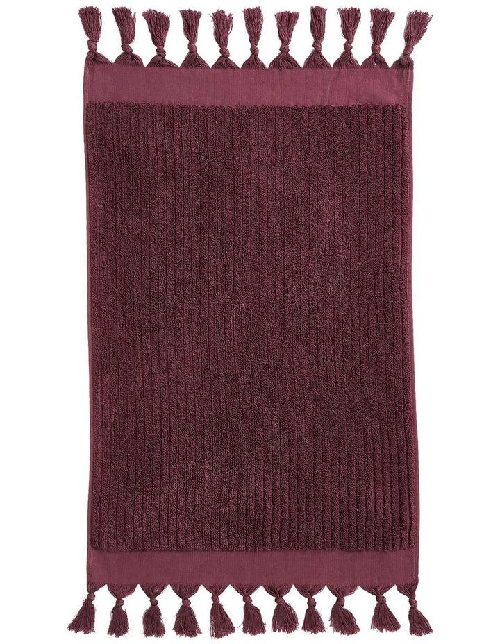 Paros Rib Bath Towel Set In Syrah image 3