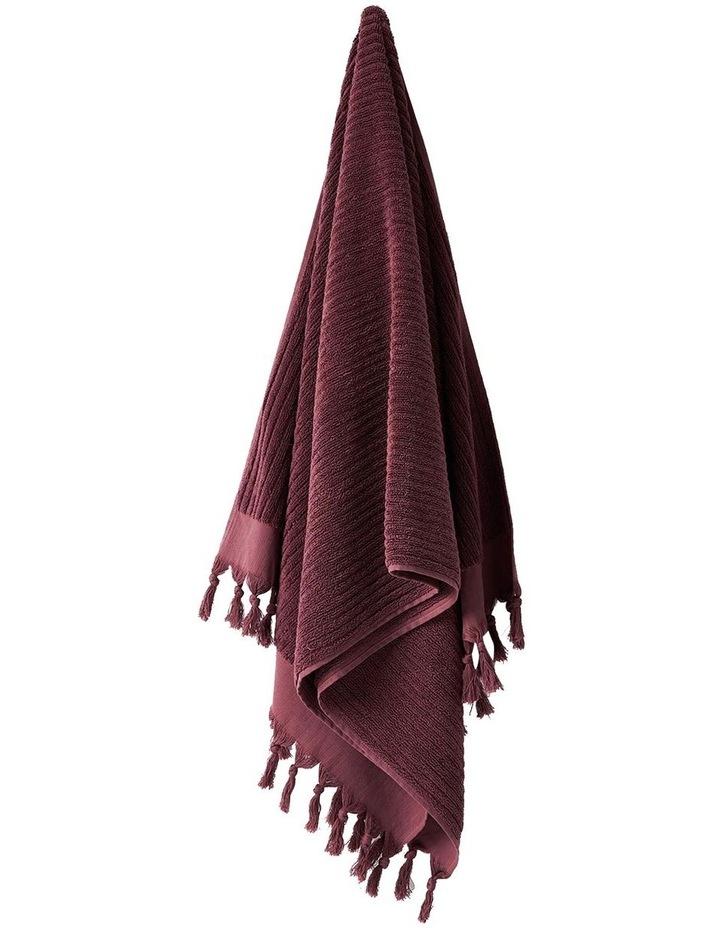 Paros Rib Bath Towel Set In Syrah image 4