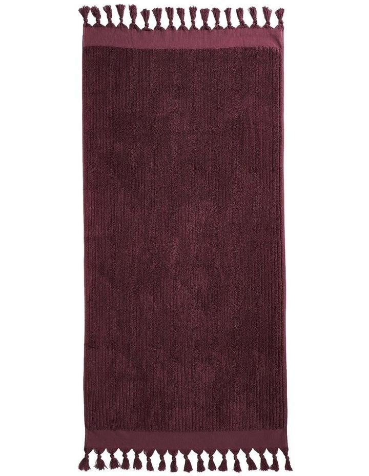 Paros Rib Bath Towel Set In Syrah image 5