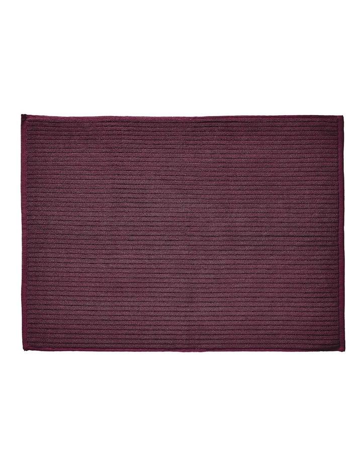 Paros Rib Bath Towel Set In Syrah image 6
