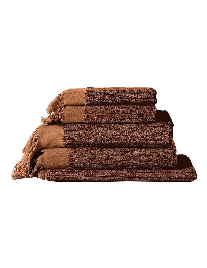 Paros Rib Bath Towel Set In Bronze image 1