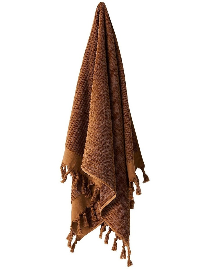 Paros Rib Bath Towel Set In Bronze image 4