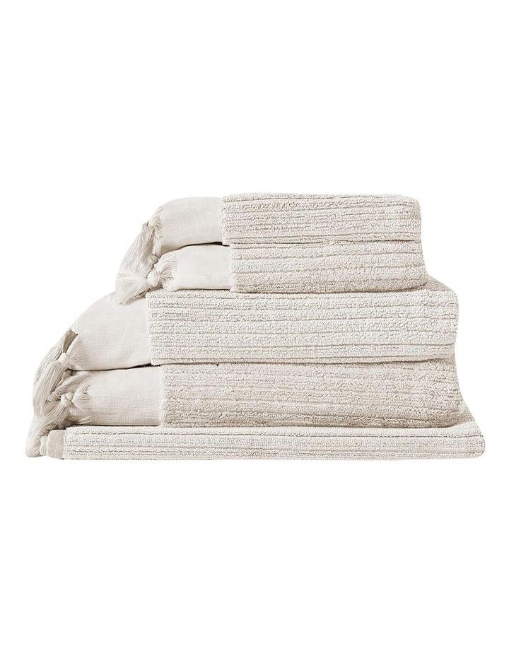 Paros Rib Bath Towel Set In Sand image 1