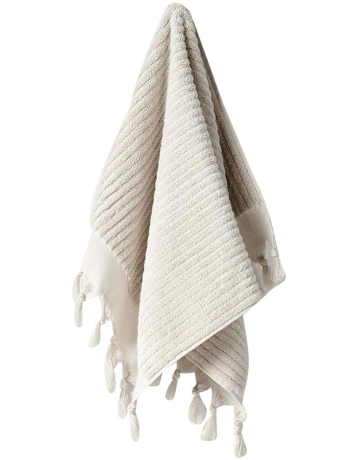 Paros Rib Bath Towel Set In Sand image 2