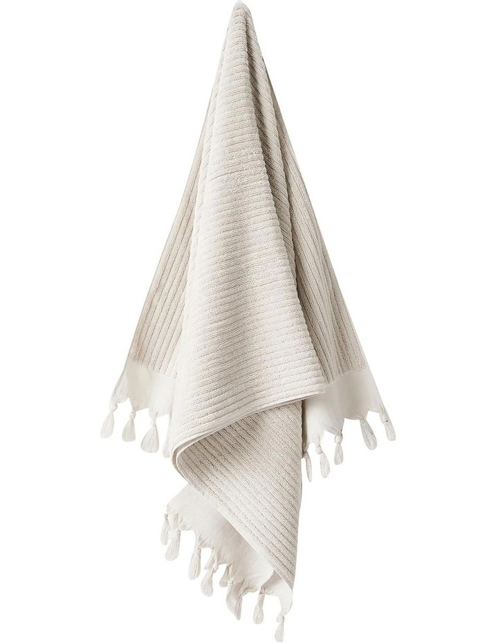 Paros Rib Bath Towel Set In Sand image 4