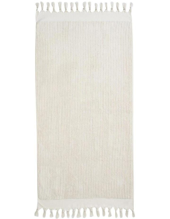 Paros Rib Bath Towel Set In Sand image 5