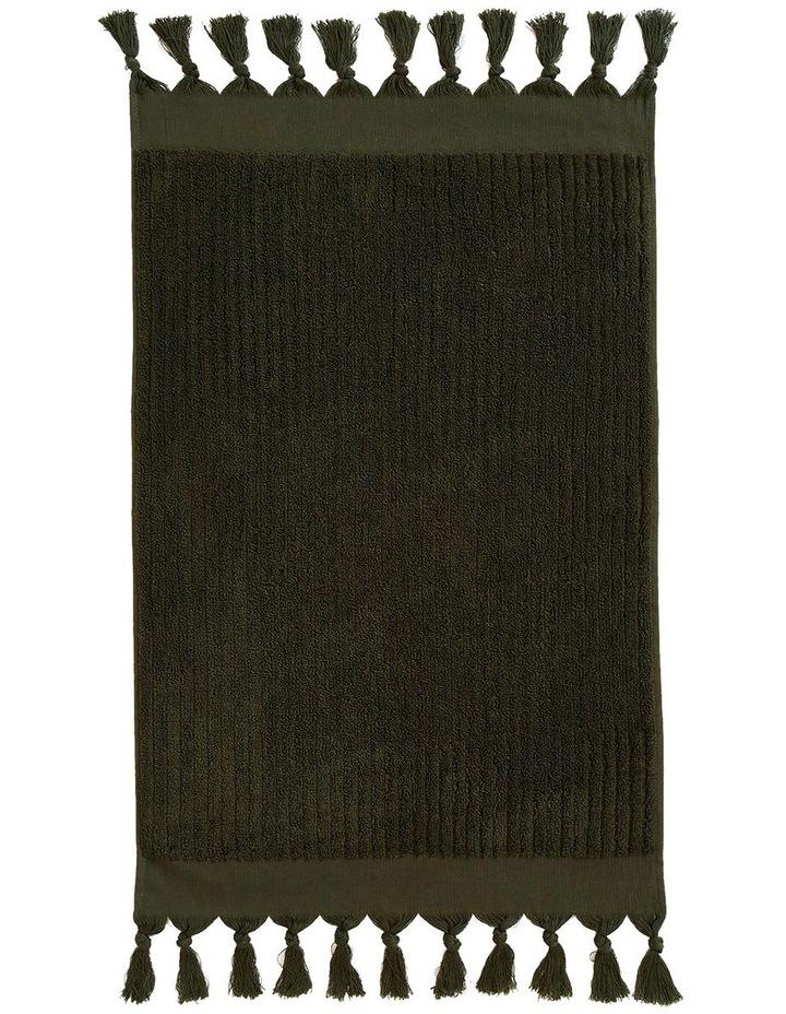 Paros Rib Bath Towel Set In Olive Night image 3