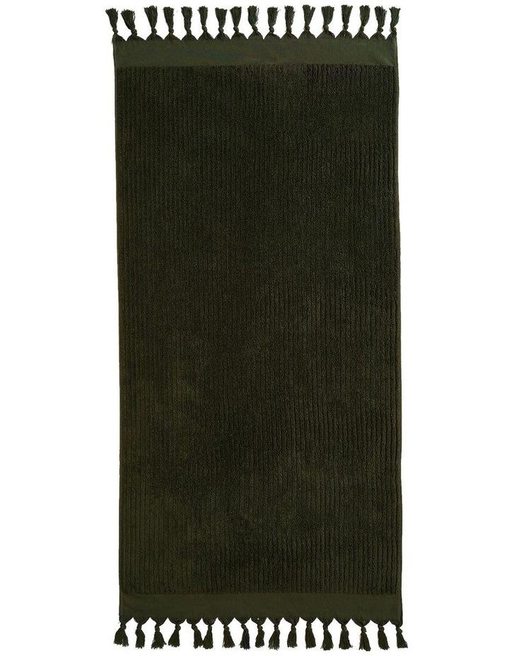 Paros Rib Bath Towel Set In Olive Night image 5