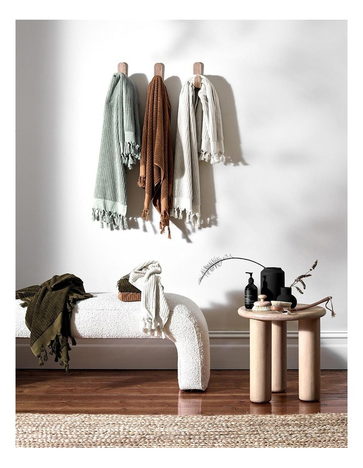 Paros Rib Bath Towel Set In Olive Night image 7