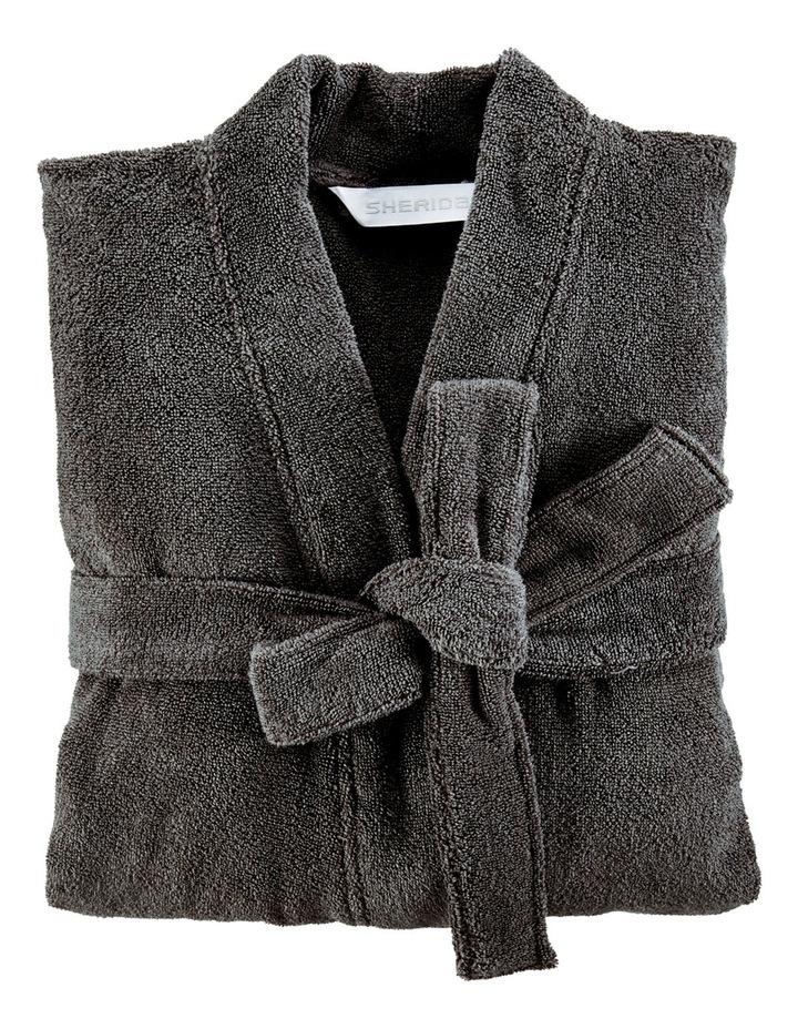 Quick Dry Luxury Bath Robe in Graphite image 1